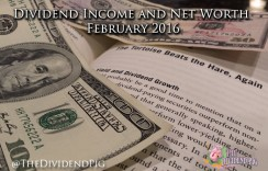 Dividend Income Report and Net Worth – February 2016