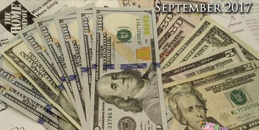 Dividend Cash Record & Net Worth Report – September 2017